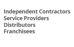 Independent Contractor Service Providers/Distributors/Franchises