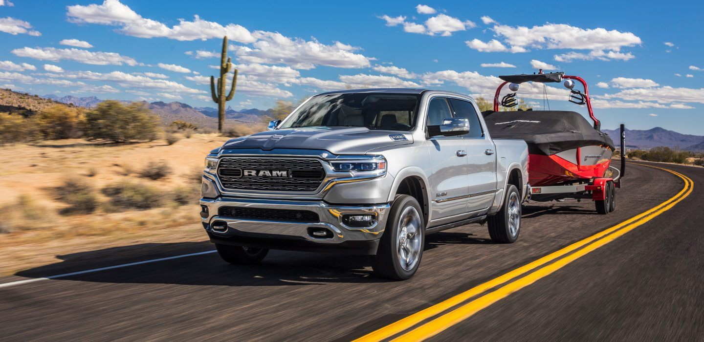 2020 Ram 1500 Front Exterior Silver Towing